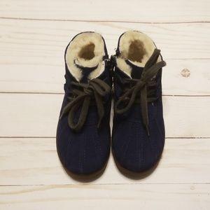 Uggs blue suede zippered boot Payten